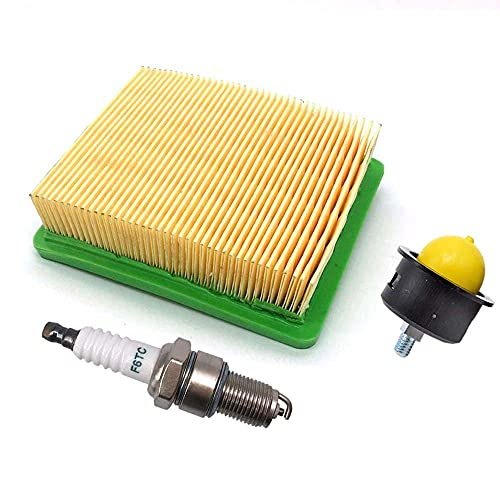 Luftfilter mit Zündkerze Benzinpumpe für Fuxtec FX-RM1855 FX-RM1860 FX-RM2060 FX-RM4639 FX-RM5196 eS FX-RM5196PRO FX-RM 5.0 5.5 Rasenmäher