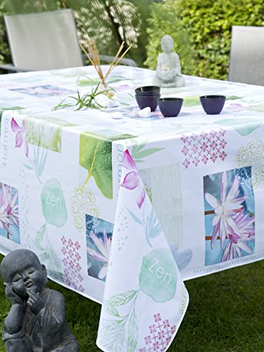 CALITEX HARMONY, Nappe Toile Cirée Rectangulaire, PVC, Multicolore, 140x200 cm