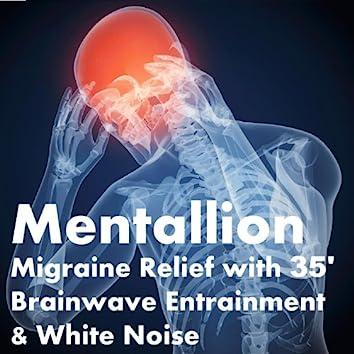 Migraine Relief with 35' brainwave Entrainment & White Noise