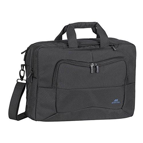 RivaCase 8490 Convertible Laptop bag/backpack 16', Borsa/Zaino Reversibile per Laptop Fino a 16', Nero