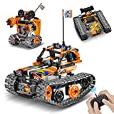 Sillbird Remote Control STEM Building Kit for Boys 8-12, 392 Pcs Science Learning Educational Building Blocks for Kids, 3 in 1 Tracked Racer RC Car/Tank/Robot Toys Gift Sets for Boys Girls