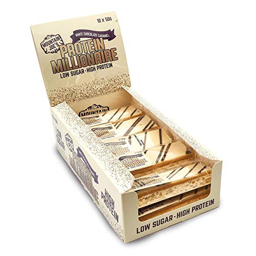 Mountain Joe's Protein Millionaire 10 Bars White Chocolate Caramel
