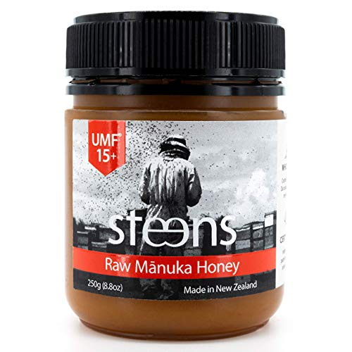 Steens UMF 15 Manuka Honey (MGO 514) 8.8 Ounce jar | Pure Raw Unpasteurized Honey From New Zealand NZ |...