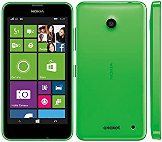 Nokia Lumia 630 Windows Prepaid SmartPhone, Carrier Locked to Cricket Wireless, No Contract