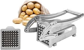 Coupe-Frites Machine à Couper les Frites Acier Inoxydable Coupe Frites Manuel Machine de Coupe de Pommes de Terre avec 2 L...
