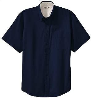 Men's Short Sleeve Wrinkle Resistant Easy Care Button Up Shirt