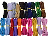 100Yards 20 Colors Elastic String Cord 1/4 Inch Flat Elastic Band Heavy Stretch High Elasticity Knit Band for DIY Sewing Craft, Bedspread, Cuff (100 Yards Mixed)