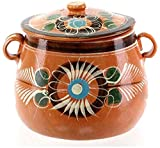Beautiful mexican handcrafted cooking pot for beans, rice and stews Can be used on gas, electric or glass stovetops, microwave, or grill Pot heats evenly and retains heat for a long period Product is handmade so size and design can slightly vary Olla...