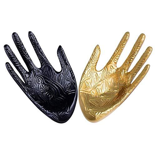 Joyería de los anillos de los pendientes del collar del soporte de exhibición de Palm Forma pendiente del estante bandeja de resina de la pulsera del collar de la joyería sostenedor de la exhibición P