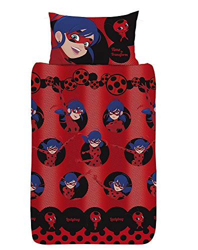 Miraculous Ladybug Bettbezug für Einzel Bett Kinder Einzelbett Kissenbezug