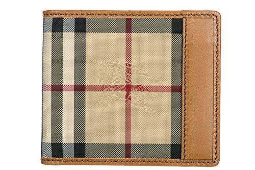 Portafogli Burberry Uomo Tessuto Marrone e Check burberry 3938200 Marrone 9.5x11 cm