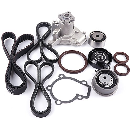 Engine Timing Part Belt Set Timing Belt Kits, SCITOO fit Hyundai Elantra 2.0L DOHC L4 16V 2009-2012 Replacement Timing Tools with Water Pump G4GC
