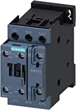 Siemens Sirius 3RT20271AK60 IEC Magnetic Contactor, 110/120VAC, 3 Pole, Size S0, 32 Full Load Amps-Inductive, 1NO+1NC, Screw Terminal