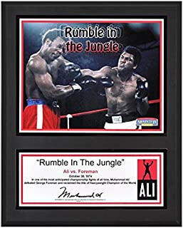 "Muhammad Ali Sublimated 12"" x 15"" Rumble In The Jungle Plaque - Boxing Plaques and Collages"