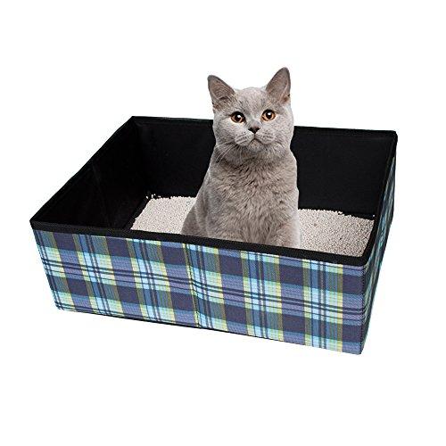 Ardermu opvouwbare kat vuilnisbak - waterdichte stof huisdier kat kat kitty nest doos vervoerder voor reizen camping huis gebruik lichtgewicht en gemakkelijk schoonmaken
