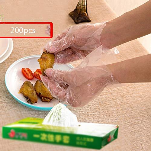 Wegwerphandschoenen medium,Een verpakking van 100 grote doorzichtige plastic wegwerphandschoenen van polyethyleen PE Reiniging Bereid voedsel voor