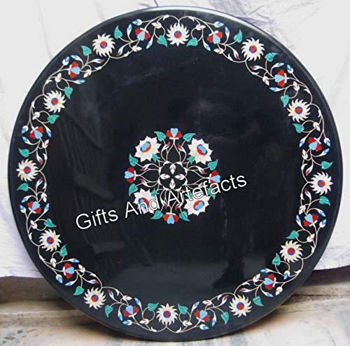 Gifts and Artefakte Marmor-Tisch für Terrasse, Esstisch, mit Perlmutt, 106,7 cm