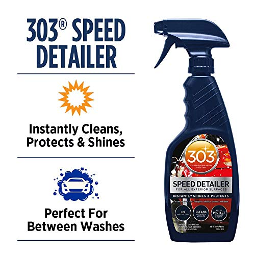303 (30216) Products Automotive Speed Detailer - For All Exterior Surfaces - Instantly Shines And Protects - Cleans Between Washes - UV Protection, 16 fl oz