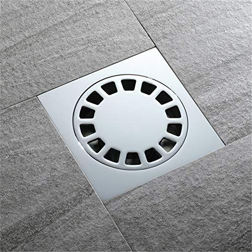 Kirok Quadratischer Bodenablauf, Kupfer Quadrat Bodenablauf für Nassraum Abfluss Duschabfluss Stärkere Ablaufabdeckungen Abflussabdeckung für Rohradapter Abflusssysteme