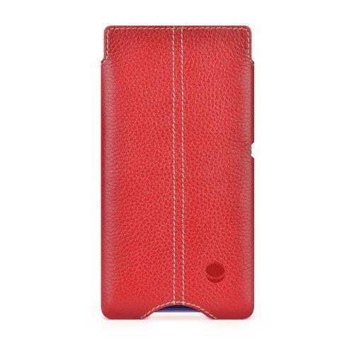 BeyzaCases - Custodia Zero a Tasca per Sony Xperia M, Colore Rosso