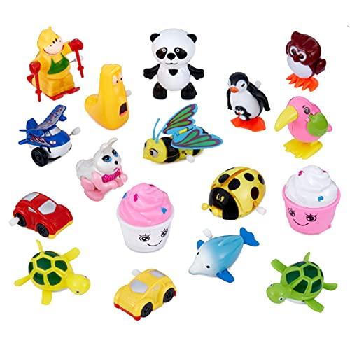 THE TWIDDLERS 28 Aufziehspielzeug für Partytüten, Kindergeburtstag Mitgebsel