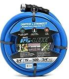 """9. AG-Lite Rubber Hot & Cold Water Rubber Garden Hose: Ultra-Light & Super Strong (3/4"""" x 15') - BSAL3415"""