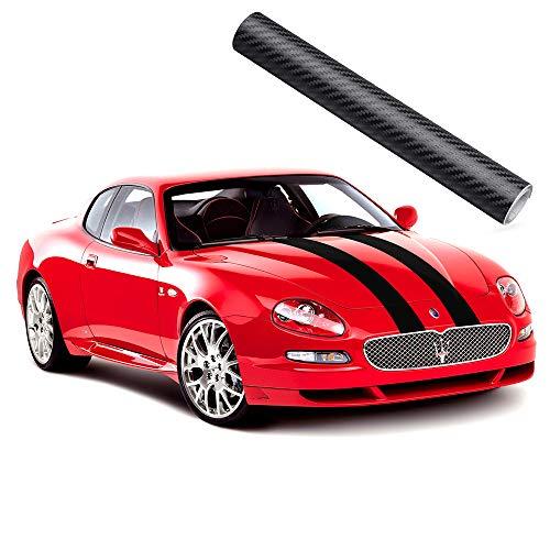 2XK-NOV 3D Blasenfrei Autofolie Carbon Vinyl Wrap Auto-Aufkleber für Auto & Motorrad, Laptops, Handys, PC-Gehäusen (Schwarz, 20CM*200CM)