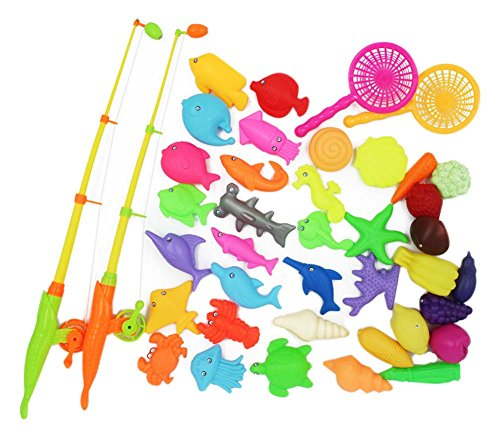 40 Pièces jouets de pêche pour les enfants/beaux joujoux de poissons, NO.5