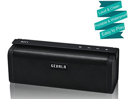 GEVALA Stereo Sound Bluetooth Speaker with Real 10W Dual Full-Range Drivers, Patented Bass Port and Fine-Tuned Digital Signal Processor, Heavy Wireless Speakers for Cellphone, Laptop, and More