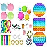 iSayhong Sensory Fidget Toys Set Allevia lo stress e l'ansia Fidget Toy per bambini Adulti, Set di giocattoli speciali per feste di compleanno 25 pezzi. Taglia unica