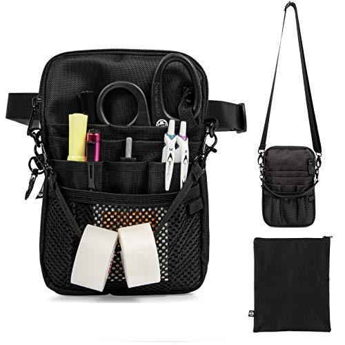 Nurse Fanny Pack with Multi-Compartment and Tape Holder For Nurses and Nursing Students (Black)