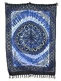 Sarong Pareo Keltisches Blumen Mandala II blau-hellblau/große Auswahl schönste Farben/Wickelrock Strandtuch Sauna-Tuch Wickelkleid Schal Wickeltuch Bademode Freizeitmode Sommermode/aus 100% Viskose