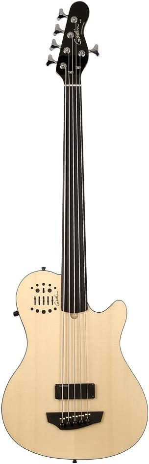 Godin A5 Ultra OFFicial site Fretless 5 String EN SG SA - Bass Natural Limited time trial price