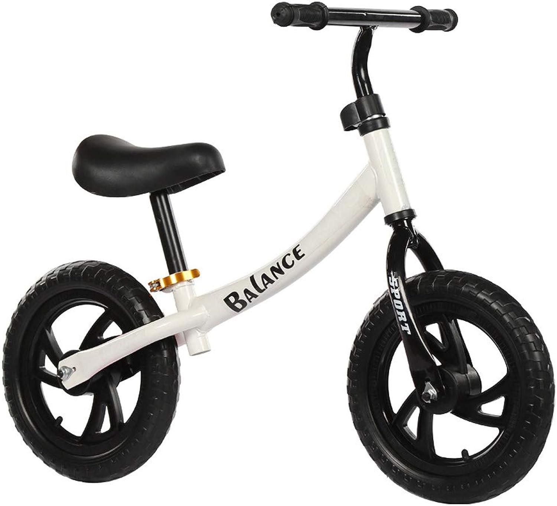 punto de venta barato CQ Bicicleta De Equilibrio Acero De Alto Alto Alto Cochebono Juguete para Exteriores Sin Pedales12 Pulgadas Regalo  primera vez respuesta