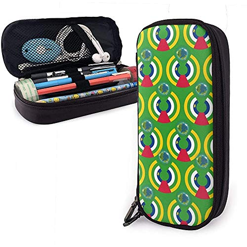 Zentralafrikanische Flagge Eat The Earth Bleistiftetui Pencase Pouchbeutel Schreibwaren Organizer Cosmetic Makeup Bag