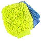 Zwipes Chenille Microfiber Premium Scratch-Free Car Wash Mitt, 2-Pack, Color may vary