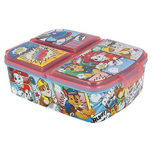 PAW PATROL | Brotdose mit 3 Fächern für Kinder - Kids Sandwich Box - Lunchbox - Brotbox BPA frei