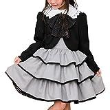 [アリサナ]arisana 入学式 女の子 スーツ 卒園式 子供服 フォーマル スカート エリー (リボン + ボレロ + ジャンパースカート の 3点 セット) 千鳥 130cm