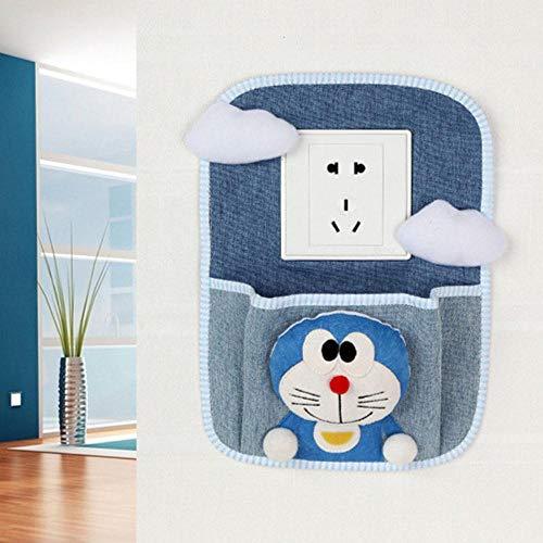 Houer Creative Switch Cover met opbergvak Home Decorations Doek Mobiel opladen Hangende tas Zak Beschermende schakelaar Sticker, 4