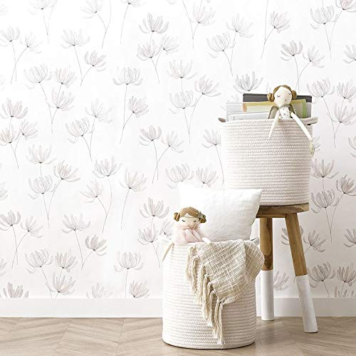 Kenay Home Sweet Wallpaper Papel Pintado, Flores, 0,53x10m(AnchoxLargo)