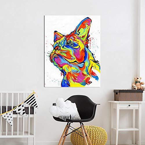 mmzki Wandkunst Leinwand Malerei Tier Bild Nette Katze Öl Druck Für Wohnzimmer Wohnkultur60X80CM
