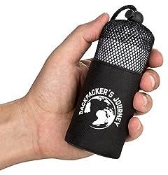 Backpacker's Journey Reiseschlafsack (nur 155g), ultraleichter und platzsparender Hüttenschlafsack aus Mikrofaser (grau)