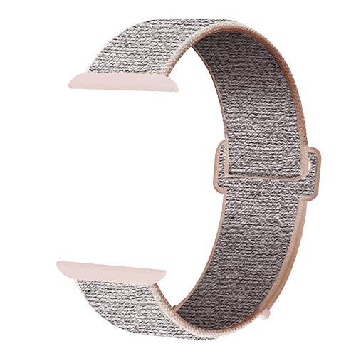 SUPERSTA für Apple Watch Armband 38mm 40mm 42mm 44mm,Gewobenes Nylon Sport Schlaufe Handgelenk Uhrband Ersatz Armreif Uhrenarmband für iWatch Apple Watch Series 4 3 2 1