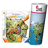 Collectix Ravensburger tiptoi Buch - Die große Wimmelreise der Tiere + Kinder Weltkarte | 4-7 Jahre