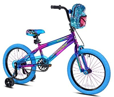 "Genesis 18"" Cute Girls Purple Illusion Bicycle with Backpack"