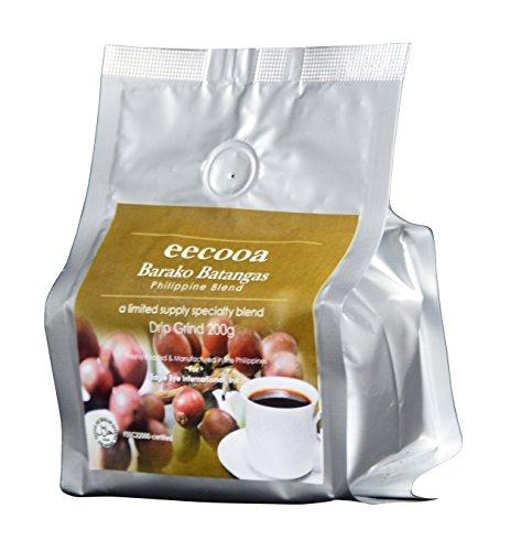 エクーア バラココーヒー フィリピン産リベリカ種コーヒー (200g 粉)