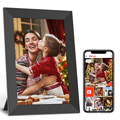 Jeemak Digitaler Bilderrahmen 7 Zoll WLAN Elektronischer Bilderrahmen IPS Touchscreen max 32GB Auto-Slideshow Fotos und Videos können jederzeit und von überall aus über die App geteilt Werden