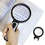Vive Magnifying Glass with Light (5X and 10X Lens) - LED Magnifier, Handheld -...