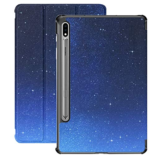 Beautiful Night Star Sky Samsung Tablet Cover for Samsung Galaxy Tab S7/s7 Plus Samsung Galaxy Tab S7 Case Stand Back Cover Case for Tablet for Galaxy Tab S7 11 Inch S7 Plus 12.4 Inch