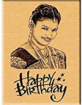 PANKATI Personalized Wooden Frame fr Birthday Gift - Engraved Wooden Photo Plaque (5x4)